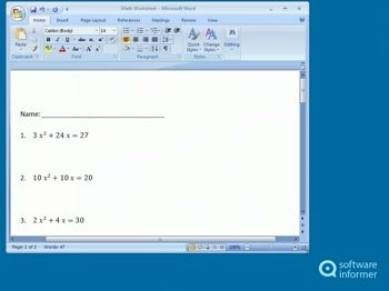 Worksheets Create Math Worksheet microsoft math worksheet generator software informer screenshots