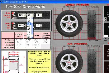 How To Read Tire Size >> Tire Size Comparator Download - Tire Size Comparator is a free program that allows you compare ...